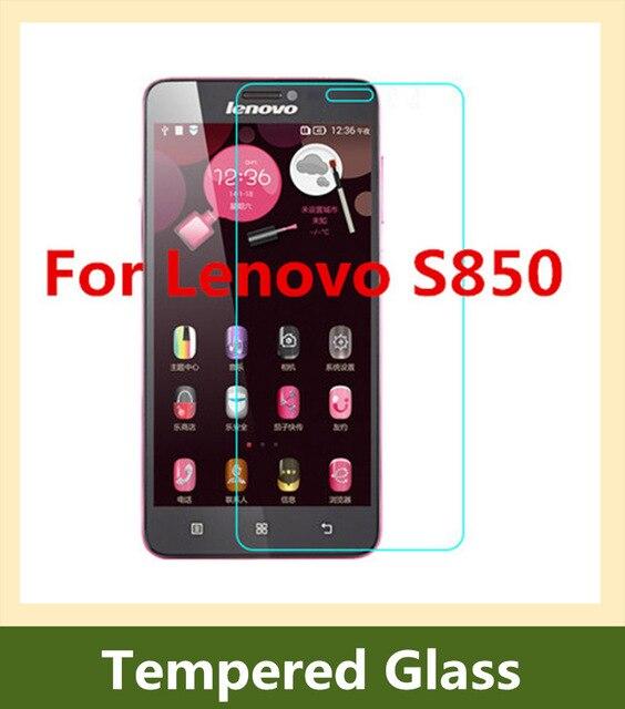 0.3mm Slim Safety Tempered Glass Film For Lenovo S850 Transparent Screen Protector Film Guard pelicu