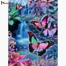 HUACAN-animaux mosaïque en diamant 5D   Peinture en broderie diamant, décoration de maison, décoration papillon complète, image de perceuse en strass, bricolage