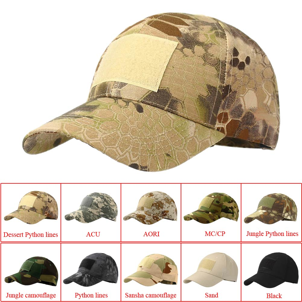 Tactical army cap Outdoor baseball Sport Snapback stripe Military Cap Camouflage Hat Simplicity Army Camo Hunting Cap For Men