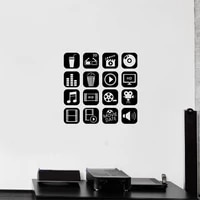 Nouveaute Film video cinema Logo signe vinyle mur autocollant Home cinema mur Art stickers Photo Studio video boutique fenetre decor