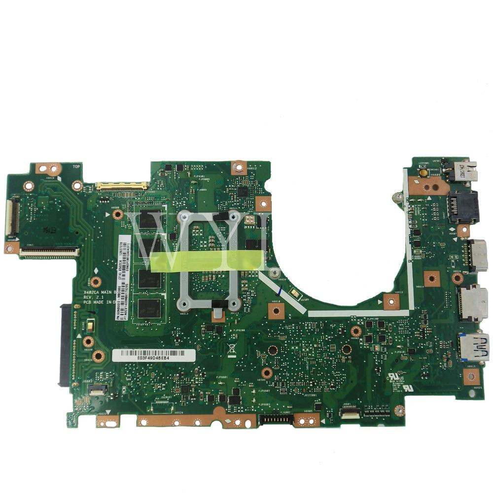 X502CA Motherboard 1007/ 2117 /i3 /i5 CPU 4GB RAM Motherboard For ASUS X502CA X502C F502CA X402C F402CA X402CA Laptop Mainboard