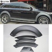 Q7 ABS corps roue arche garde-boue garnitures voiture roue sourcil pour Audi Q7 2010-2013