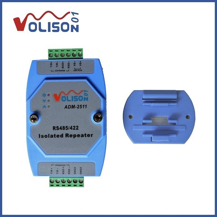 ADM-2511 isolamento Óptico de grau Industrial 485 repetidor rs485 rs422 para 485 isolador/422 amplificador