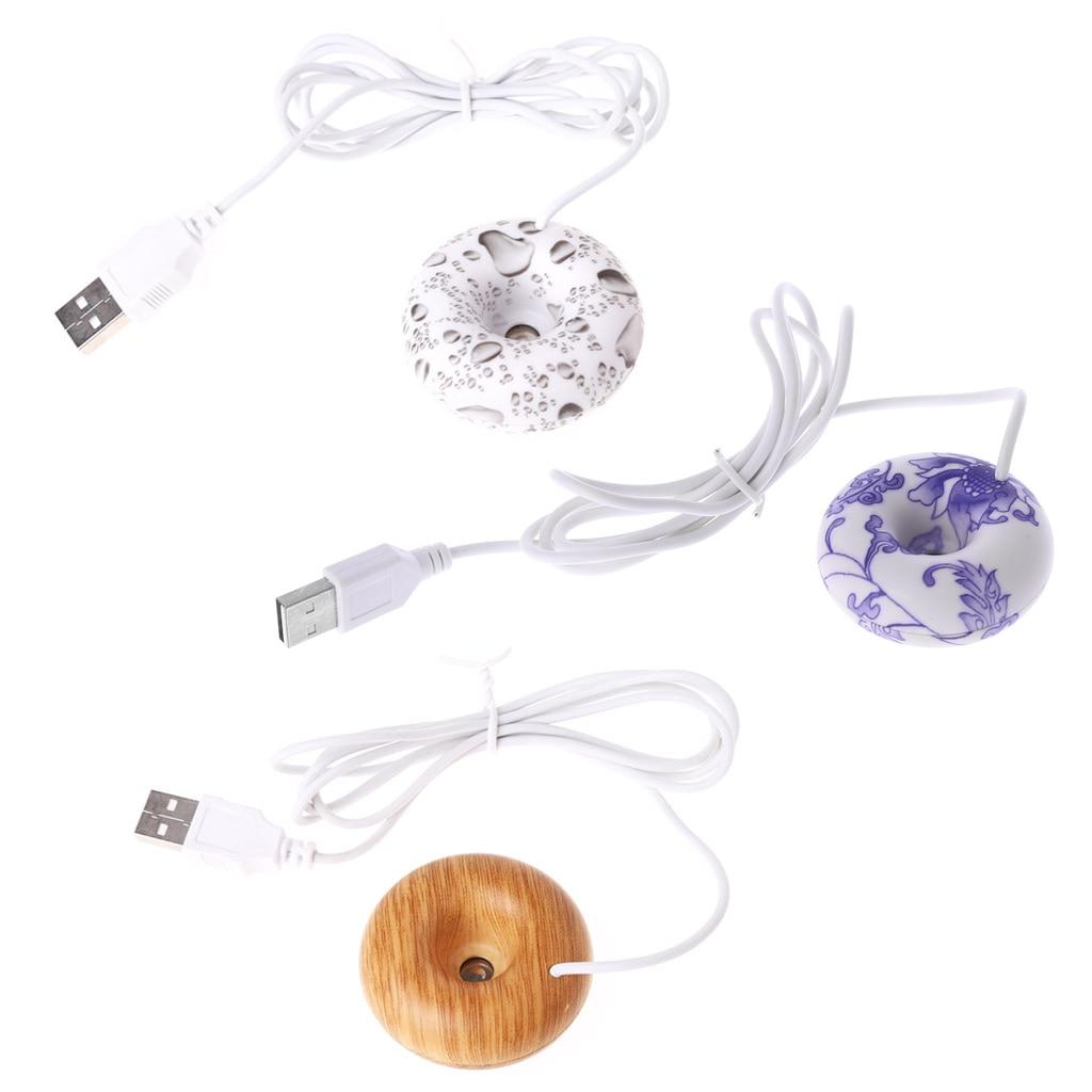 Mini Portable Donuts USB Air Humidifier Purifier Floats Aroma Diffuser Steam
