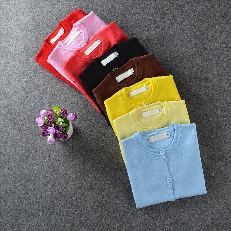 Осенне-зимняя детская одежда, Хлопковый вязаный кардиган, свитер для мальчиков и девочек, От 1 до 5 лет