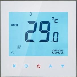 Touchscreen Colourful Programmable Modbus Thermostat for Electric Heating (with RS485 Function)