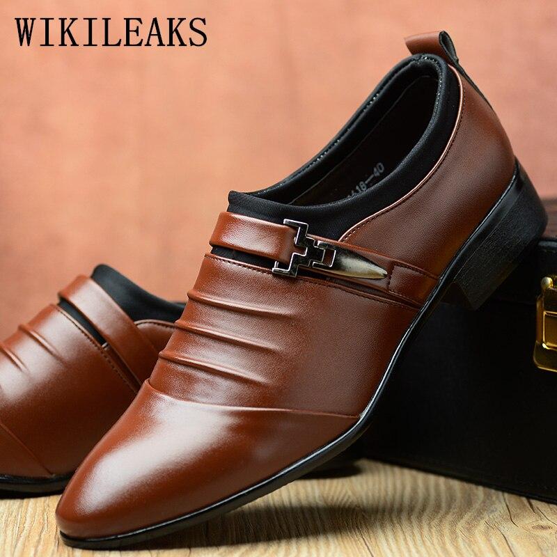 Sapatos de Couro Sapatos de Casamento Sapatos de Oxford Formal para Homem Casual Homem Mocassins Masculino