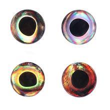 20 pièces 7-15mm holographique 3D yeux de poisson étanche mouche pêche leurre yeux attachant banderoles en plastique leurre bricolage yeux sattaquer à lartisanat de poupée