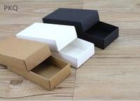 10pcs/lot Black Kraft Large Gift Box Packaging White Craft Paper Box Party Wedding Cardboard Box small Carton soap Packaging box