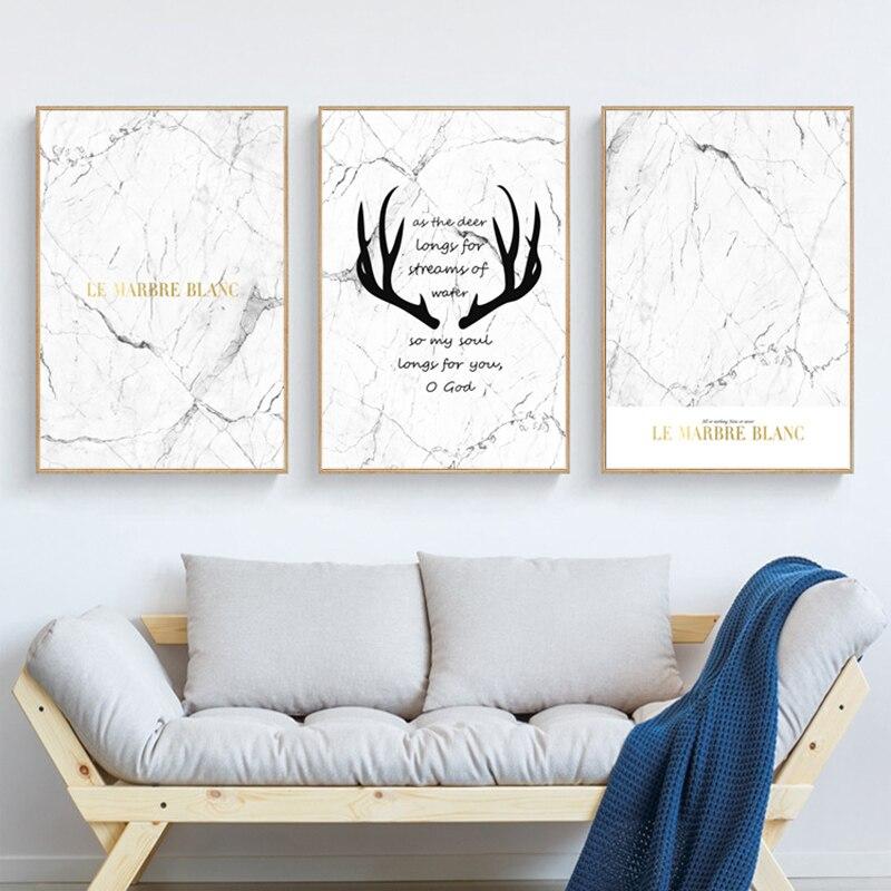 Скандинавский мраморный стиль постеры и принты черно-белые кавычки Холст Картина винтажный плакат на стену картинки для декора гостиной
