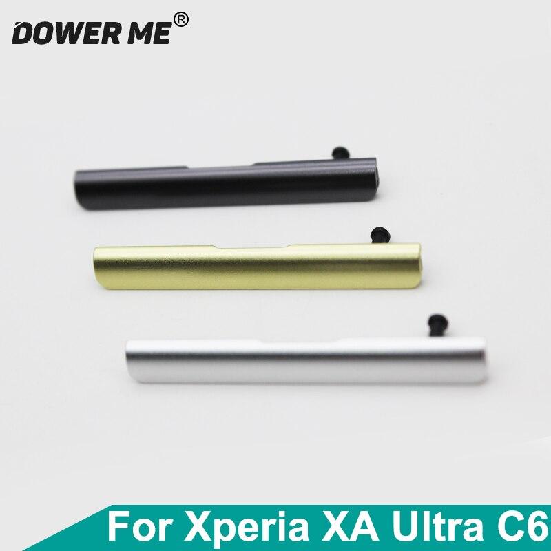 Dower Me puerto de tarjeta Sim + tapa de enchufe de polvo de ranura de Puerto SD para Sony Xperia XA Ultra C6 F3216 F3215/11/12/13