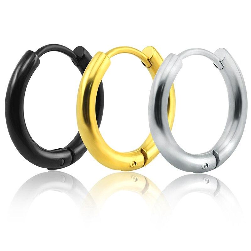 1 шт., 4 цвета, круглые серьги в стиле панк из нержавеющей стали с пряжкой, стильные серьги-гвоздики из нержавеющей стали для мужчин и женщин