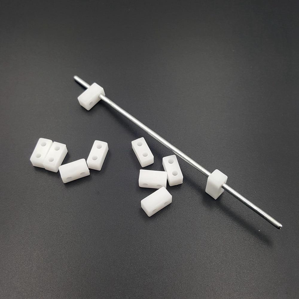 10 pces 10x5x5mm dois furos conexão brinquedo quadro modelo de plástico eixo biela engrenagem acionamento eixo curto
