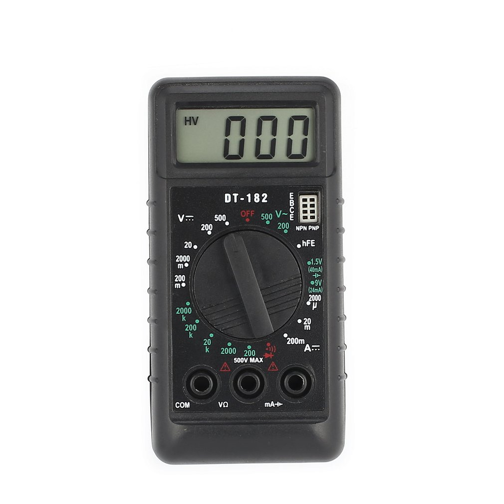 DT-182 Digital Mini Multimeter DC/AC Voltage Current Meter Handheld Pocket Voltmeter Ammeter Diode Triode Tester Multitester qq2 0 compact analog multimeter ac dc voltage current mini multimeter use for home and student applicable