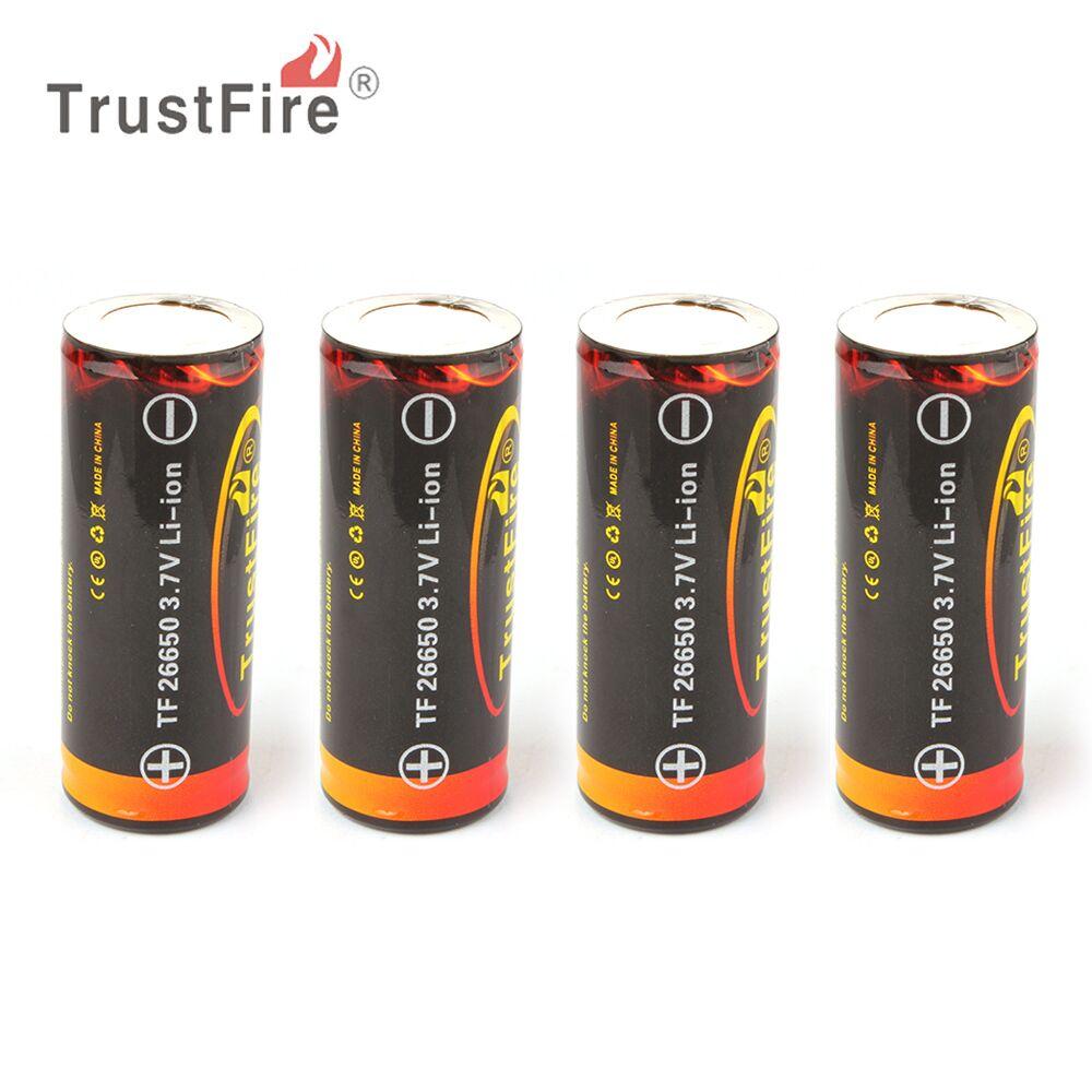 4 unids trustfire 3,7 V 26650 recargable de 5000 mAh de alta...