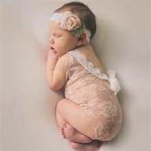 Реквизит для фотосессии новорожденных; Костюм для младенцев; Милая одежда принцессы для маленьких девочек; Кружевной комбинезон ручной раб...