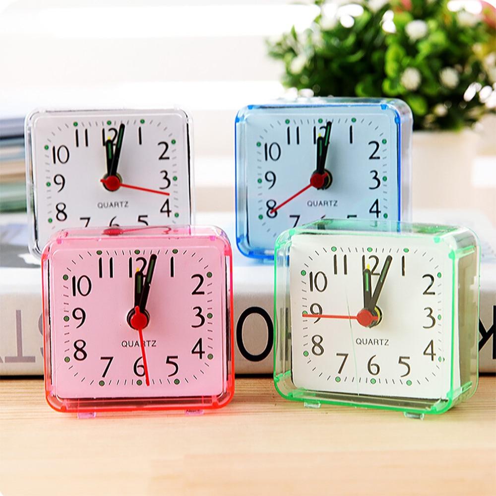 Tragbare Digitale Alarm Uhr Reloj Despertador Digitale Platz Kleine Bett Compact Travel Quarz Beep Wecker Digitale Klok