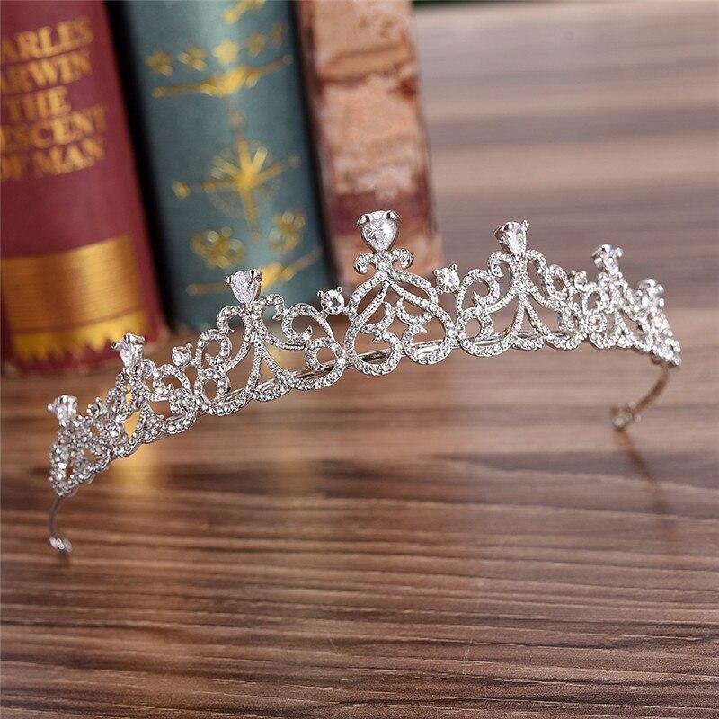 Corona de cristal tiaras e coroas de pelo de las mujeres de joyería barroca tiaras y coronas de la princesa de la Reina de la diadema boda desfile ornamento del pelo