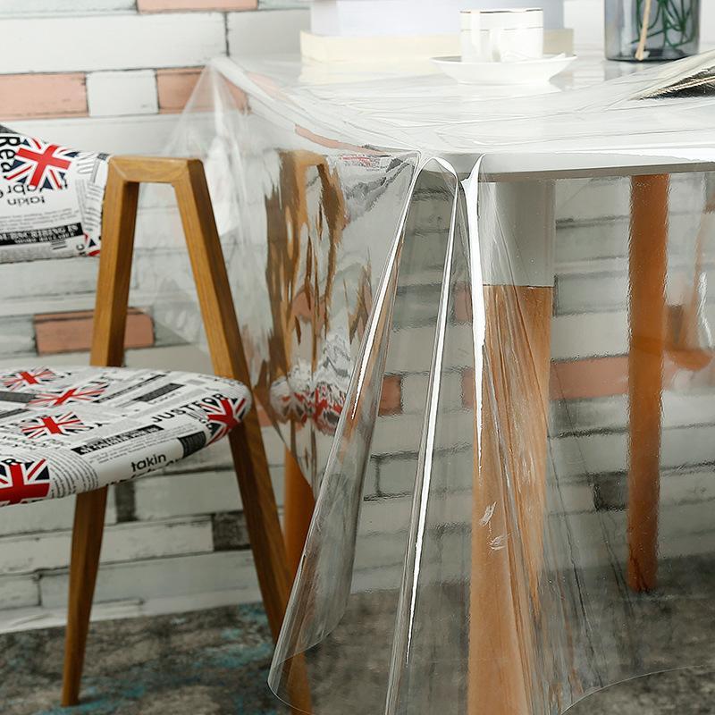 IHAD PVC Tischdecken Transparent Wasserdichte Abdeckung Anti-öldicht Runde Glas Tischdecke Home Küche Dekoration Tisch Matte 0,23mm
