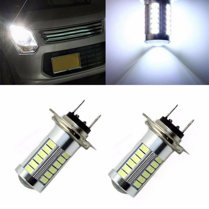 JX-LCLYL 1pc H7 5630 33SMD LED 12V Car Fog Light Headlight Lamp Bulb White