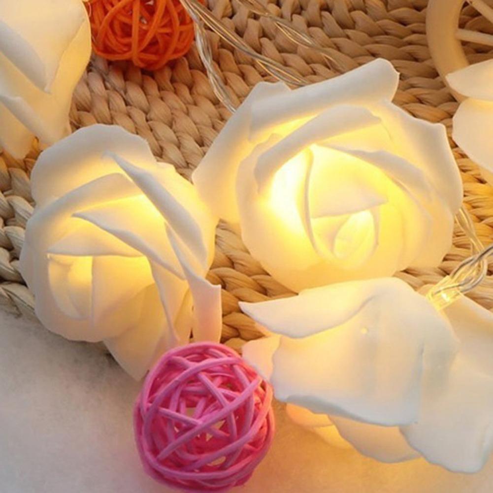 Светодиодный светильник с розами на батарейках для свадьбы дома дня рождения Дня