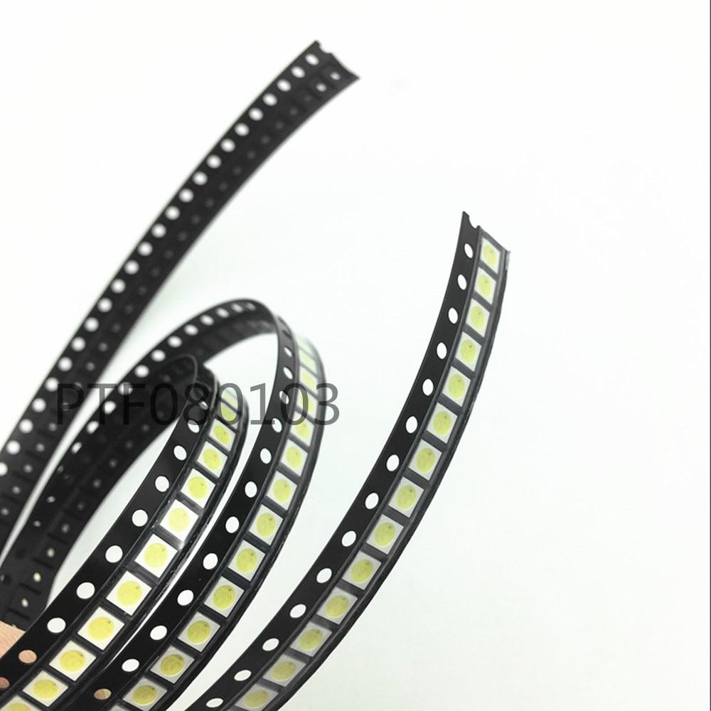 100pcs lot everlight 3030 smd led 1w 6v cold white for tv lcd backlight 3 0 3 0 0 8mm 100PCS/Lot 1W 3030 3V 6VSMD LED Cold White 70LM 140mA For TV Backlight LED