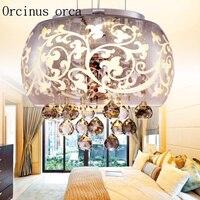 LED מודרני קריסטל מנורת חדר שינה אוכל חדר בסגנון אירופאי בציר קריסטל נברשת משלוח חינם