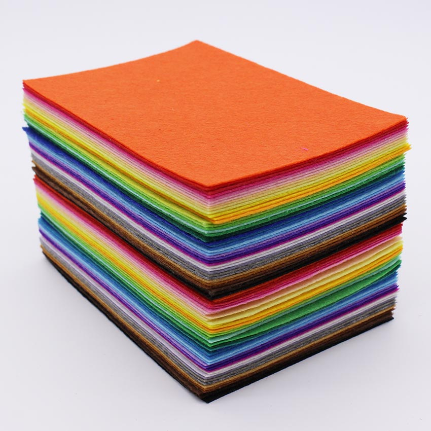 80 pçs/lote 1mm feltro tecido de poliéster, bordado, diy, agulha, costura, feltro pano, feltro artesanato, tecido feltro feltro a6
