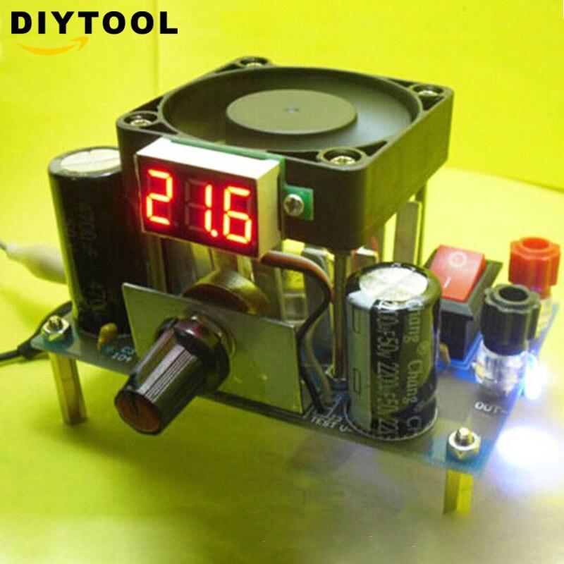 Módulo de fuente de alimentación DIY LM338K 3A para Arduino Raspberry pi Buck, Kit de placa convertidora DIY de 1-25V CC de 3-35V a 1,2-30V CA