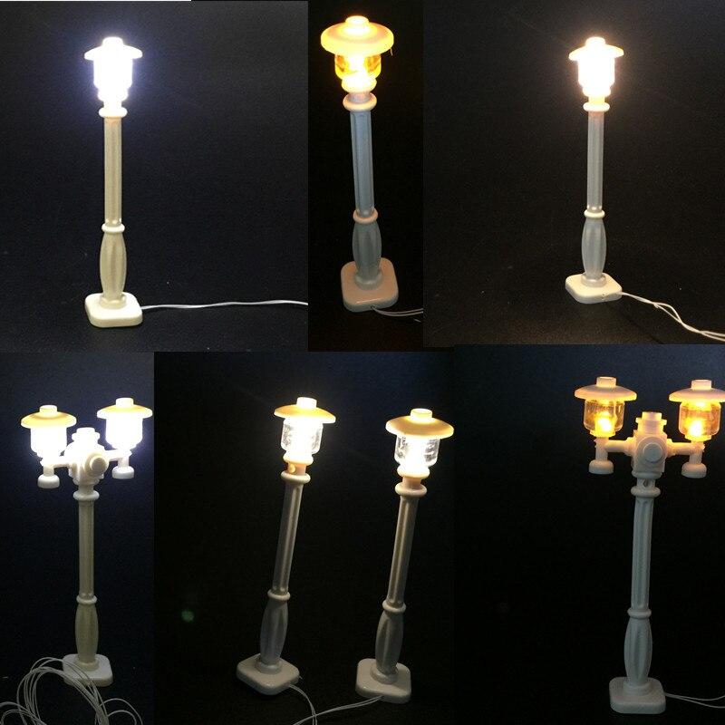 Llevó la lámpara de la luz de calle post para Lego y bloques de construcción LED series de la ciudad modelo de alta calidad