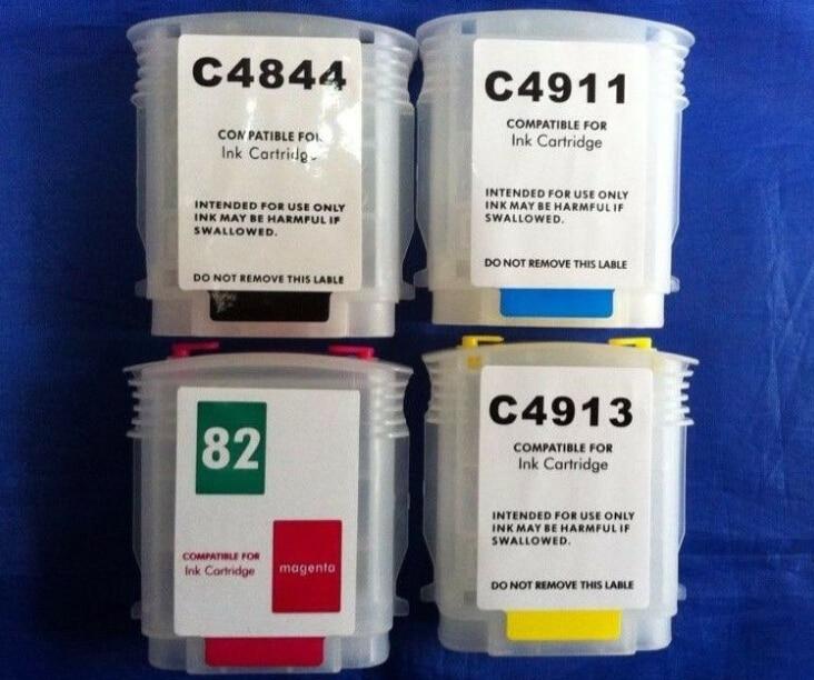 Impresora de cartuchos de tinta recargables 1 juego 82 para impresora HP DESIGNJET 500 800 C4911A-C4913A C4844A