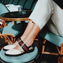 2019 frauen Sandalen Mode Niedrigen Heels Sandalen Für Sommer Schuhe Frau Casual Block Absatz Zapatos Mujer Plus Größe 43 Sandale femme