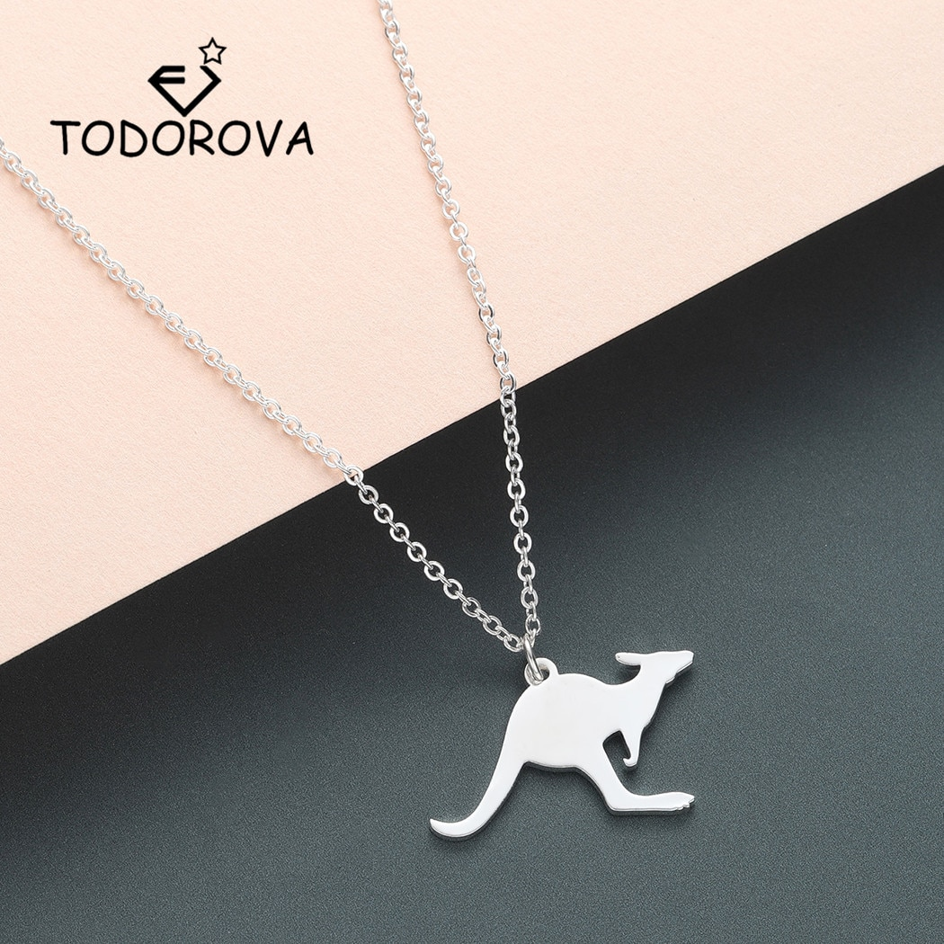 Collar Todorova bonito con colgante de canguro, cadena de vacaciones en Australia, collar de pared, joyería para hombres y mujeres, regalo de Animal salvaje