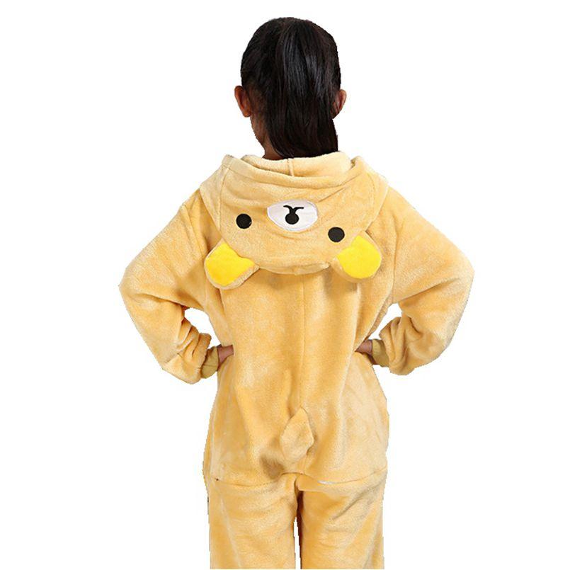 Pijama de franela para chico Kugurumi Onesie, viñetas de animales oso rilakkuma Cosplay, una pieza para pijama de niño y niña, pijama para dormir