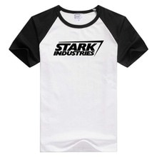 Для Stark Industries Железный человек с коротким рукавом Повседневная мужская и женская футболка Удобная футболка крутые топы с принтом GA623