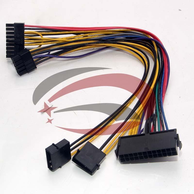 ATX 24P IDE 4P Molex to 18P 10P конвертер Кабель питания для HP Z800 материнская плата рабочей станции