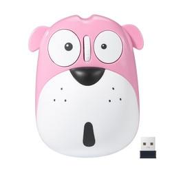 Drahtlose Maus Rosa Orange Schöne Hund Wiederaufladbare 1200DPI USB Hohe Qualität Geräuschlos Nette Mäuse für PC MAC/Laptop notebook L0123
