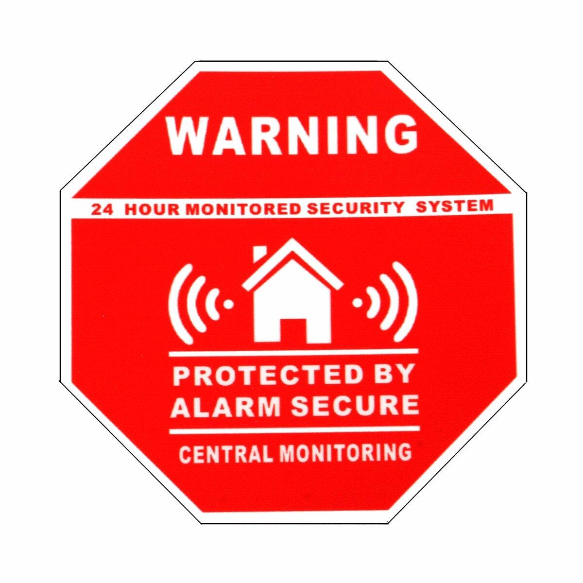 Safurance 5 Stücke Haus Alarm Sicherheit Aufkleber/Aufkleber Zeichen für Fenster und Türen Warn Sicherheit