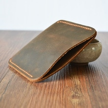 11cm*9.5cm  Handmade Genuine Leather designer money clip SlimTop Quality Cow Leather money holder mens money clips