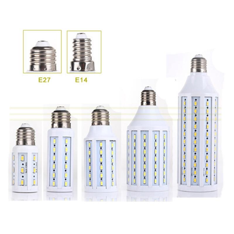 1Pcs CE E27 E14 5730 5630 SMD LED Corn Bulb AC 220V AC 110V 5W 7W 12W 15W 25W 30W 40W 50W High Luminous Spotlight LED lamp light