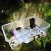 Aquatic צב אמבטיה עם מכסה טנק סקינג פלטפורמת זוחלים חרקים עכביש שינה תחבורה תיבת מגדל תא ערכת חסון