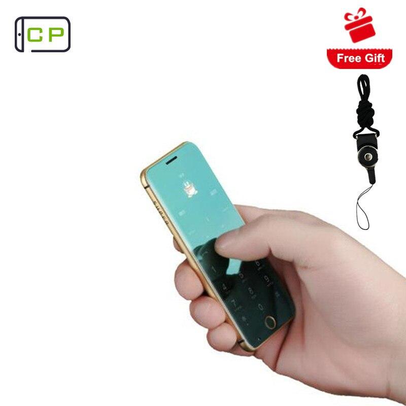 Original Anica A16 mini teléfono móvil ultrafino REPRODUCTOR DE Teléfono de lujo Bluetooth 1,63 pulgadas tarjeta de crédito teléfono móvil con MP3