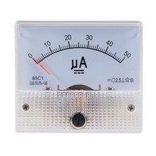 Pointer DC micro amperemeter DC 0-100uA 50uA 200uA 500uA Analog-Panel AMP Current Meter Amperemeter Gauge Ampere 85C1