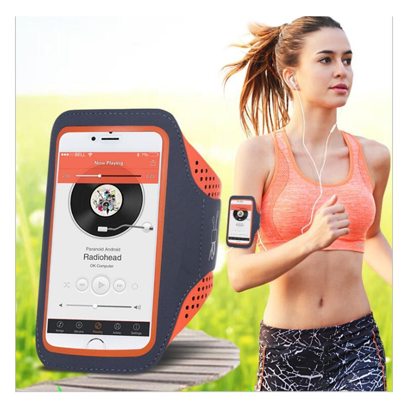 6 inch sports jogging gym armband running bag arm wrist band hand mobile phone case holder bag outdoor waterproof nylon hand bag 5.5'' Waterproof Sports Jogging Gym Armband Running Bag Touch Screen Cell Phone Arm Wrist Band Hand Mobile Phone Case Holder
