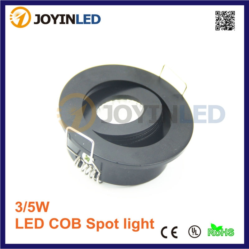 10pcs/lot 3W under cabinet home Mini COB led spot downlight Black