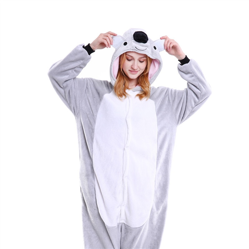 Pijamas de animales calientes Koala onesies para pijamas de adulto mujeres pijama de cosplay koala disfraz onsie lindo Homewear dormir ropa de casa
