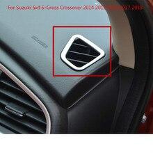 Accesorios de coche lado interior delantero arriba aire acondicionado cubierta de salida de ventilación embellecedores 2 uds para Suzuki Sx4 Crossover s-cross 2014 - 2018