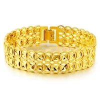 womens mens bracelet yellow gold filled solid classic fashion wrist chain link