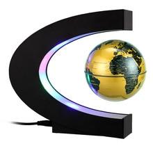 3 InchC shape LED World Map Floating Globe Magnetic Levitation Light Antigravity magic/novel light Xmas Birthday Gift Home Decor