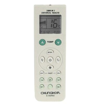 Control remoto A/C Universal de Chunghop (K-9098E) para acondicionadores de aire
